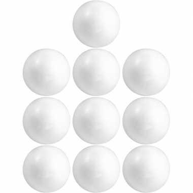 10x hobby/diy piepschuim bal/bol 15 cm