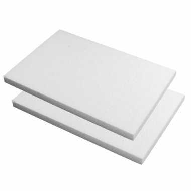 10x stuks piepschuim knutsel plaat/platen van 20 x 30 x 2 cm
