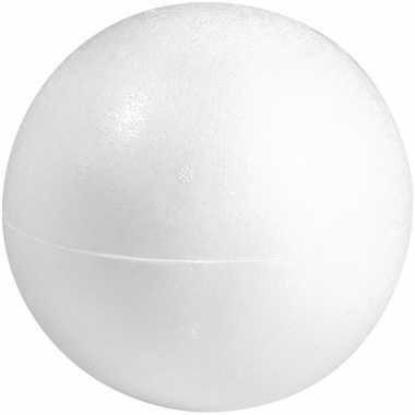1x stuks hobby/diy holle piepschuim bal/bol 20 cm 2 halve schalen