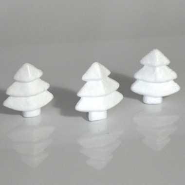 20x hobby/diy piepschuim kerstbomen 6 cm