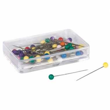 250x stuks gekleurde knopspelden/knutsel spelden