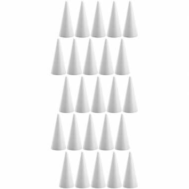 25x hobby/diy piepschuim kegels vormen 20 cm