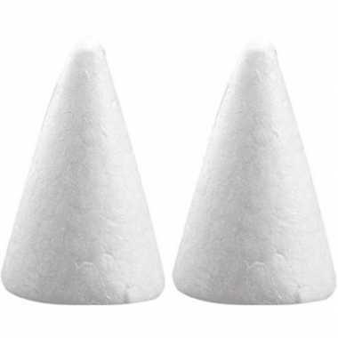 2x hobby/diy piepschuim kegels vormen 6 cm