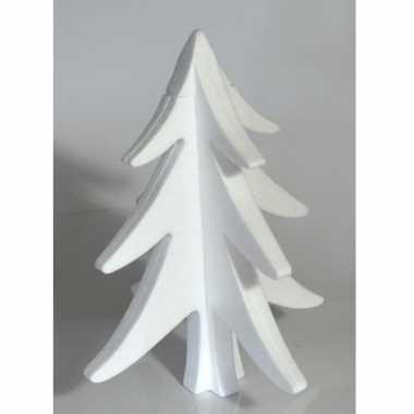 4x hobby/diy piepschuim kerstboom 30 cm kerstdecoratie