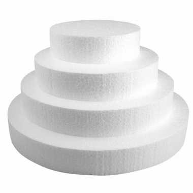 4x piepschuim schijven van 15/20/25/30 cm breed en 4 cm dik