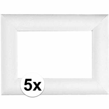 5x piepschuim lijsten 23 x 16 cm