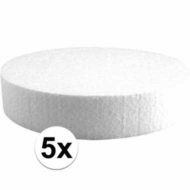 5x piepschuim schijven 20 cm breed en 4 cm dik