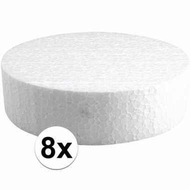 8x piepschuim schijven 15 cm breed en 4 cm dik