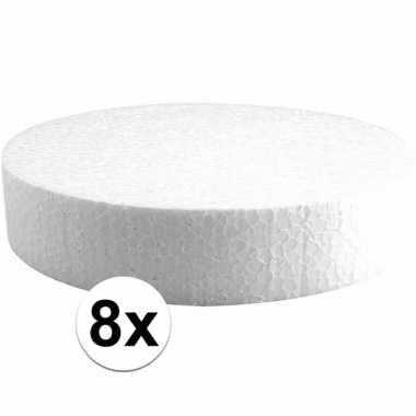 8x piepschuim schijven 20 cm breed en 4 cm dik