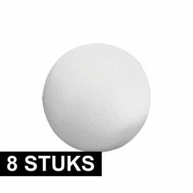 8x stuks piepschuim ballen 7 cm