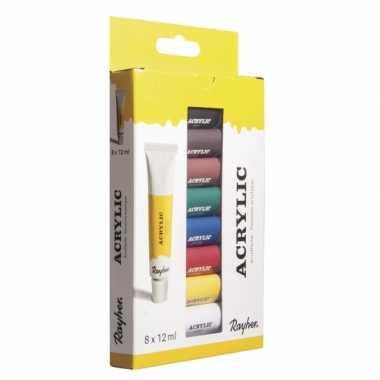 Acryl verf setje 8 kleuren
