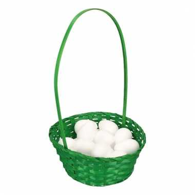 Easter basket with styrofoam eggs