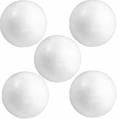 Pakket van 20x stuks hobby/diy piepschuim ballen/bollen 10 cm