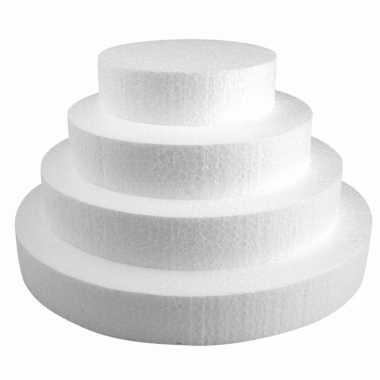 Set van 4x stuks piepschuim schijven vormen van 15/20/25 en 30 cm doorsnede