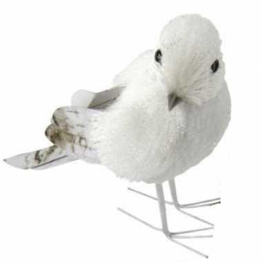 Wit met grijze vogel 12 cm type 1