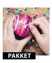 5x kerstballen diy pakket 12 cm